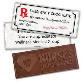 Personalized Emergency Chocolate Kit Embossed Nurse Chocolate Bar