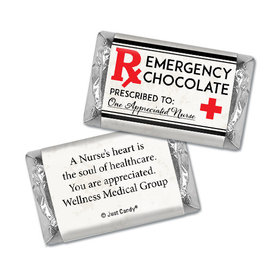 Personalized Emergency Chocolate Hershey's Miniatures Assembled