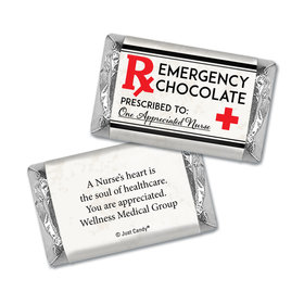 Personalized Emergency Chocolate Miniatures Wrappers Only