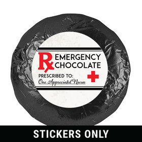 "Emergency Chocolate 1.25"" Stickers (48 Stickers)"