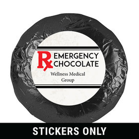 "Personalized Emergency Chocolate 1.25"" Stickers (48 Stickers)"