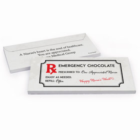 Deluxe Personalized Nurse Appreciation Emergency Candy Bar Favor Box