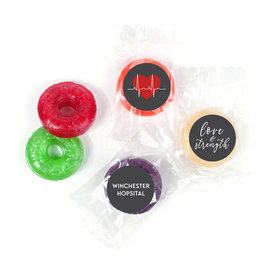 Personalized Nurse Appreciation Heart Beat Life Savers 5 Flavor Hard Candy