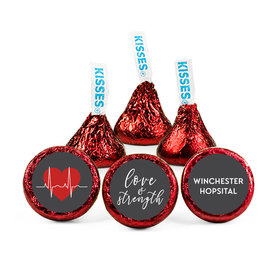 Personalized Nurse Appreciation Heart Beat Hershey's Kisses (50 pack)