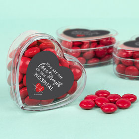 Nurse Appreciation Love & Strength Assembled Acrylic Heart Container with Milk Chocolate Minis