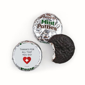 Personalized Nurse Appreciation First Aid Heart Pearson's Mint Pattiess