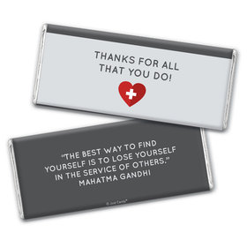 Personalized Nurse Appreciation First Aid Heart Chocolate Bars