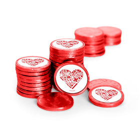 Nurse Appreciation Nurse's Heart Chocolate Coins with Stickers (84 Pack)