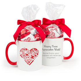 Nurse Appreciation Nurse's Heart 11oz Mug with Hershey's Miniatures
