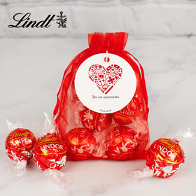 Personalized Nurse Appreciation Lindt Truffle Organza Bag- Nurse's Heart