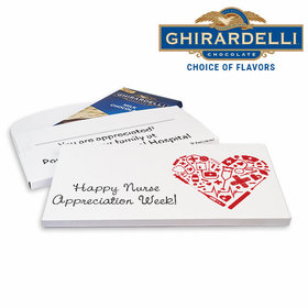 Deluxe Personalized Heart Nurse Appreciation Ghirardelli Chocolate Bar in Gift Box
