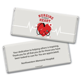 Personalized Nurse Appreciation Work of Heart Chocolate Bars
