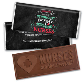 Personalized Nurse Appreciation Strongest People Embossed Nurse Chocolate Bars