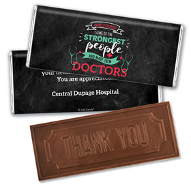 Personalized Doctor Appreciation Strongest People Embossed Thank You Chocolate Bars