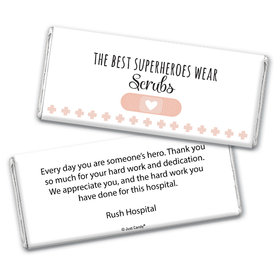 Personalized Nurse Appreciation Superheroes Chocolate Bar Wrappers Only