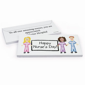 Deluxe Personalized Nurse Appreciation Nurse Scribbles Hershey's Chocolate Bar in Gift Box