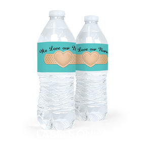 Personalized Bandage Heart Nurse Appreciation Water Bottle Labels (5 Labels)