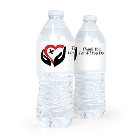 Personalized Healing Hands Nurse Appreciation Water Bottle Labels (5 Labels)