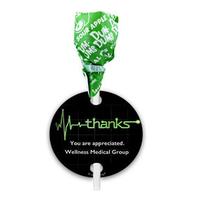 Personalized Nurse Appreciation Heartbeat Dum Dums with Gift Tag (75 pops)