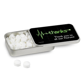 Personalized Nurse Appreciation Mint Tin Heartbeat of Thanks (12 Pack)