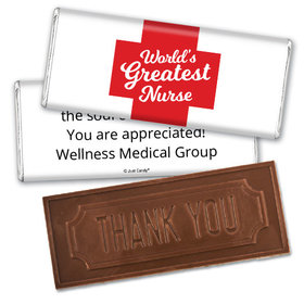 Personalized Red Cross Embossed Chocolate Bar