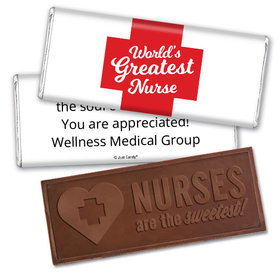 Personalized Red Cross Embossed Nurse Chocolate Bar