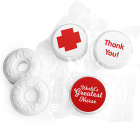 Nurse Appreciation Red Cross Life Savers Mints