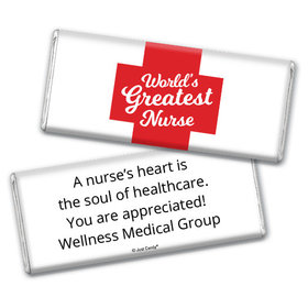 Personalized Nurse Appreciation Red Cross Chocolate Bar Assembled