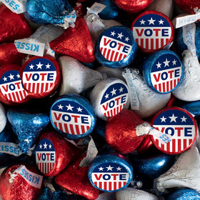 Election Candy Patriotic Hershey's Kisses with Vote! Stickers