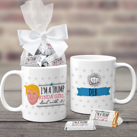 Personalized Presidential Election Trump Kinda Girl Coffee Mug with approx. 24 Wrapped Hershey's Miniatures