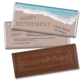 Relaxing By the SeaEmbossed Congratulations Bar Personalized Embossed Chocolate Bar Assembled