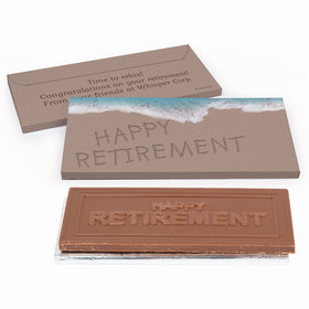 Deluxe Personalized Beach Retirement Chocolate Bar in Gift Box