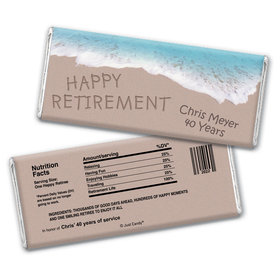 Relaxing By the Sea Personalized Candy Bar - Wrapper Only