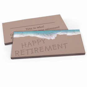 Deluxe Personalized Beach Retirement Candy Bar Favor Box