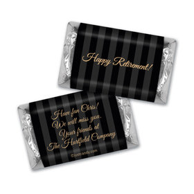 Pinstripe Retirement Personalized Miniature Wrappers