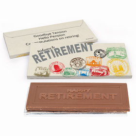 Deluxe Personalized Passport Retirement Chocolate Bar in Gift Box