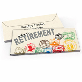Deluxe Personalized Passport Retirement Candy Bar Favor Box