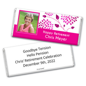 Retirement Portrait Personalized Candy Bar - Wrapper Only