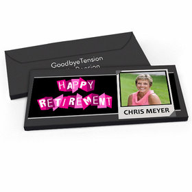 Deluxe Personalized Photo Retirement Candy Bar Favor Box