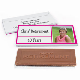 Deluxe Personalized Kudos Retirement Chocolate Bar in Gift Box