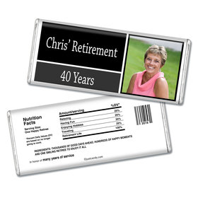 Retirement Personalized Chocolate Bar Photo Colorblock