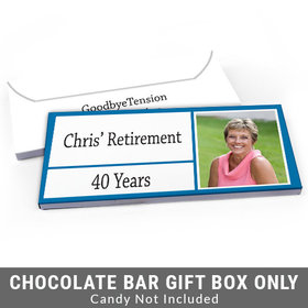 Deluxe Personalized Kudos Retirement Candy Bar Favor Box