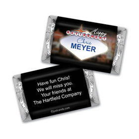 Vegas Retirement Personalized Miniature Wrappers
