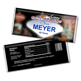 Retirement Personalized Chocolate Bar Vegas City Lights