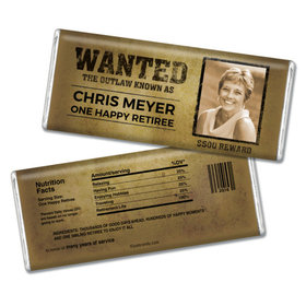 Personalized Retirement Chocolate Bar Wrappers