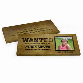 Deluxe Personalized Wanted Retirement Hershey's Chocolate Bar in Gift Box