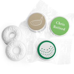 Gone Golfin' Personalized Retirement LIFE SAVERS Mints Assembled