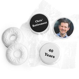 Add Your Photo Personalized Retirement LIFE SAVERS Mints Assembled