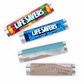 Personalized Retirement Message by the Sea Lifesavers Rolls (20 Rolls)