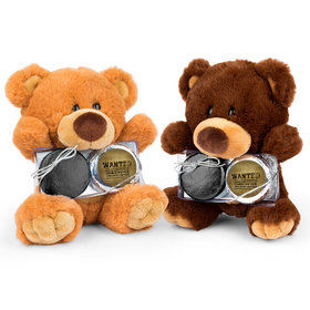 Personalized Retirement Wanted Teddy Bear with Chocolate Covered Oreo 2pk